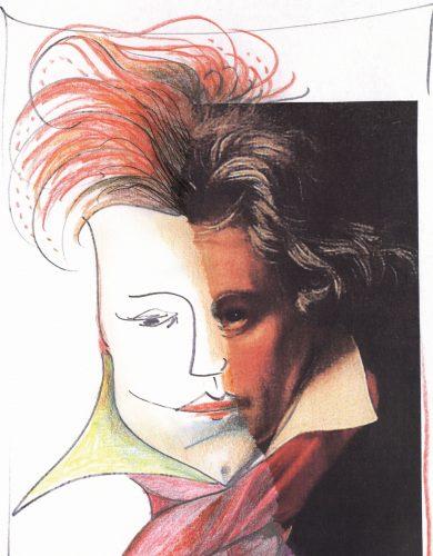 Mein Beitrag zum Beethoven-Jahr 2020; Artist: Susanne Dorendorff [Collage, 2010]