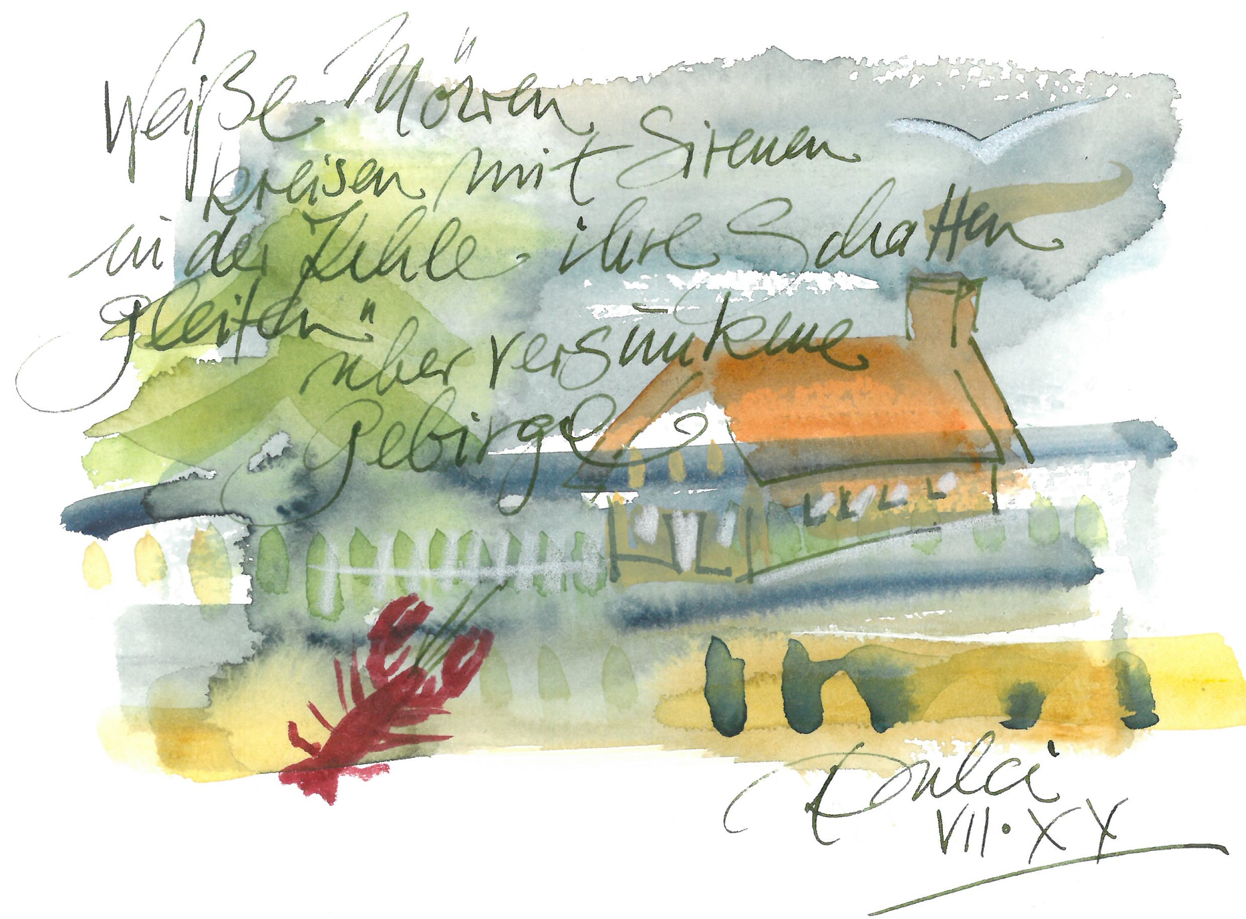 literarische Illustration Susanne Dorendorff Offene See